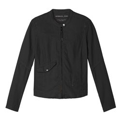 Sandwich Linen Biker Jacket Black