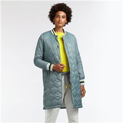 Sandwich Lightly Quilted Coat Green
