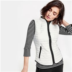Gerry Weber Contrast Piping Gilet White