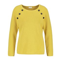 Gerry Weber Button Detailed Jumper Lemon