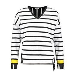 Gerry Weber Contrast Striped Jumper Black