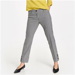 Gerry Weber Gingham Check Trousers Black