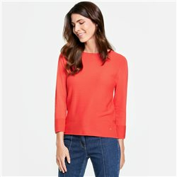 Gerry Weber 3/4 Textured Knit Jumper Red