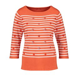 Gerry Weber Striped Rhinestone Jumper Red