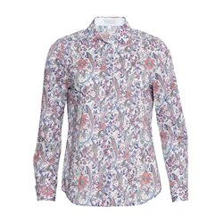 Erfo Floral Print Shirt Blue