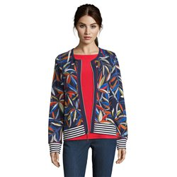 Betty Barclay Fern Print Cardigan Dark Blue