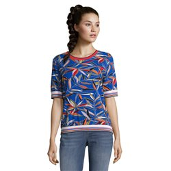 Betty Barclay Fern Print Top Blue