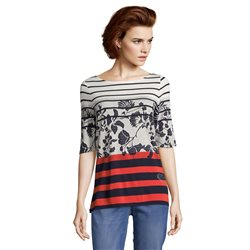 Betty Barclay Striped Top Navy