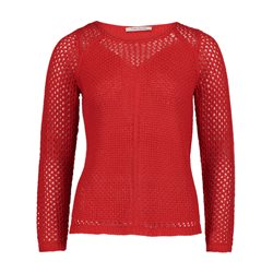 Betty Barclay Crochet Jumper Red