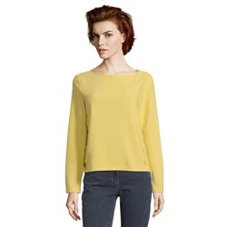 Betty Barclay Button Trimmed Jumper Yellow