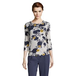 Betty Barclay Embellished Print Top Dark Blue