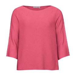 Monari Knitted Jumper With Slogan Sleeves Pink