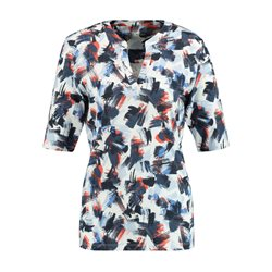Gerry Weber Abstract Fitted Top Blue