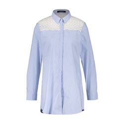 Taifun Striped Shirt With Embroidery Blue