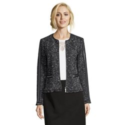 Betty Barclay Tweed Jacket Dark Blue