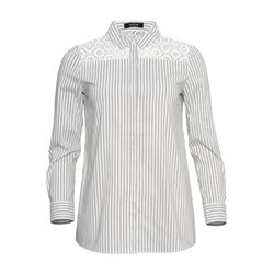 Taifun Striped Shirt With Embroidery Cream