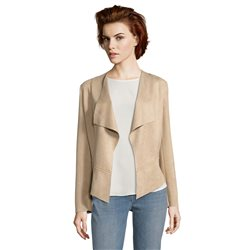 Betty Barclay Faux Suede Jacket Brown