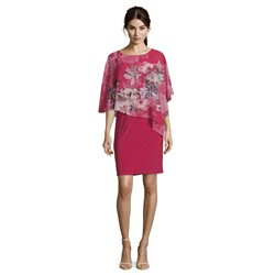 Vera Mont Floral Cape Dress Pink