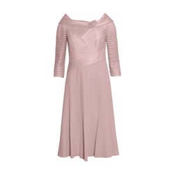 Rosa Clara Dress With Criss Cross Bodice Pink