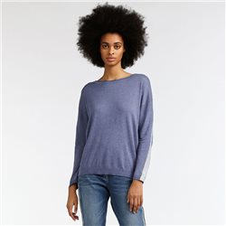 Sandwich Jumper With Stripe Sleeve Lilac