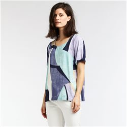 Sandwich Graphic Print Top Green