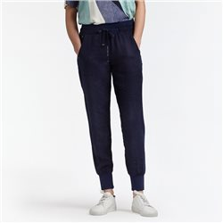 Sandwich Linen Hareem Trousers Blue