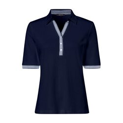 Olsen Moasic Print Polo Shirt Blue