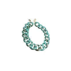 Hot Tomato Acrylic Chunky Chain Necklace Green