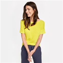Gerry Weber Capped Sleeve Top Light Yellow