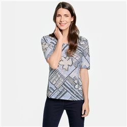 Gerry Weber Patchwork Patterned Top Blue