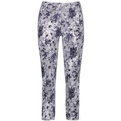 Gerry Weber Floral Striped Jeans Blue