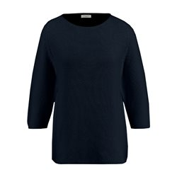 Gerry Weber Roundneck Textured Pullover Navy