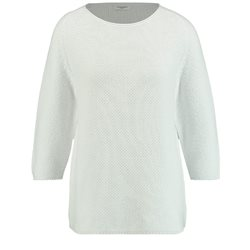 Gerry Weber Roundneck Textured Pullover White