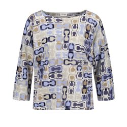 Gerry Weber Abstract Patterned Jumper Blue