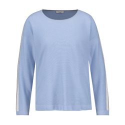 Gerry Weber Striped Roundneck Pullover Light Blue