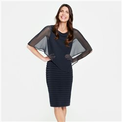 Gerry Weber Wrap Overlay Dress Navy