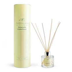 Marmalade Of London Honeysuckle & Elderflower Reed Diffuser Yellow