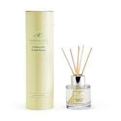 Marmalade Of London Honeysuckle & Elderflower Travel Reed Diffuser Yellow