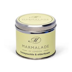 Marmalade Of London Honeysuckle & Elderflower Medium Tin Candle Yellow