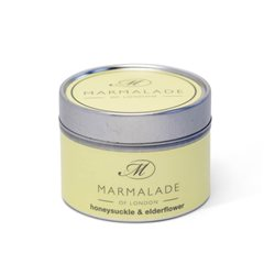 Marmalade Of London Honeysuckle & Elderflower Small Tin Candle Yellow