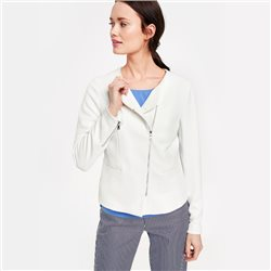 Gerry Weber Blazer With Zip Detail White