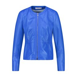 Gerry Weber Nappa Leather Jacket Blue