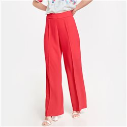 Taifun Flowing Palazzo Trousers Red
