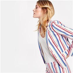 Taifun Modern Striped Blazer Cream