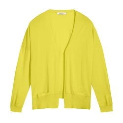 Sandwich Fine Knit Cardigan Yellow