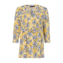 Olsen Pleated Floral Print Blouse Yellow