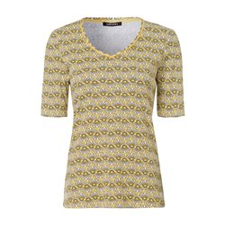 Olsen Daisy Printed Top Yellow