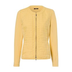 Olsen Zipped Linen Mix Jacket Yellow