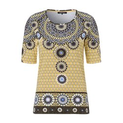 Olsen Ethnic Print Top Yellow