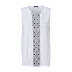 Olsen Abstract Sleeveless Top White